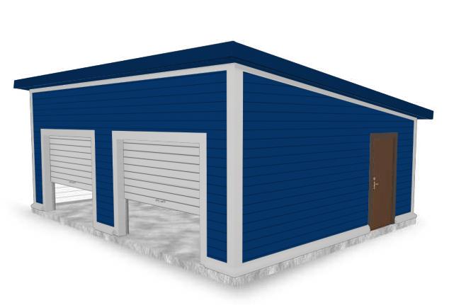 Планировка гаража на две машины